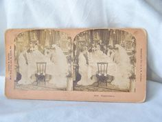 Antique Stereoview Card Wedding Feast