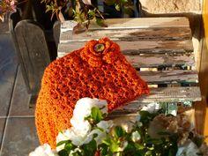 Cuello hecho a mano crochet
