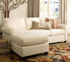 Living Room (or 'Bonus Room' with different color fabric of course) - Buchanan Chaise Sofa Sectional #potterybarn