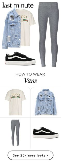"""""""Untitled #168"""" by mynameisjanestyle on Polyvore featuring Gucci, ATM by Anthony Thomas Melillo and Vans"""