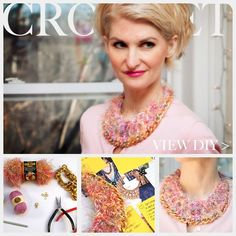 awesome DIY Bijoux - DIY Crochet Necklace