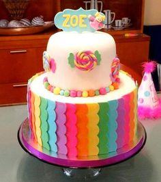bolo de aniversario arco iris                                                                                                                                                      Mais