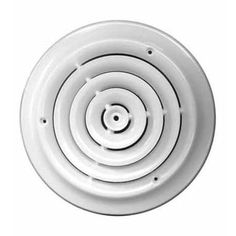 Truaire C800-08 Greystone Round Ceiling Diffuser, 8, White