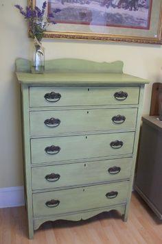 Vintage Green Dresser - Maison Blanche Paint in Chloe