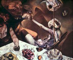Dorothea Tanning (American [Surrealism] The Philosophers. Max Ernst, Surrealism Painting, Pop Surrealism, Dorothea Tanning, Lovers Images, What Dreams May Come, Atelier D Art, Baroque Art, Feminist Art