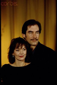 Timothy Dalton and Joanne Whalley - stars of the mini series  SCARLETT 1994