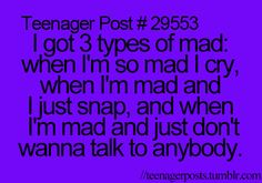 Im not a teen but this is true for me to :)