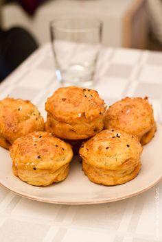 Muffins Saumon Parmesan | Parmesan cheese  Salmon Muffins | Cahier de gourmandises