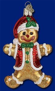 """Gingerbread Boy"" 32164 Old World Christmas Glass Ornament | eBay"