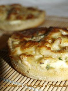 Tartelettes au chou fleur et mozzarella #recette #tarte #fromage