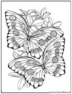 Jolis Papillons dans les fleurs Livres À Colorier, Coloriages, Coloriage  Numéroté, Coloriage Magique 64aeb80fe1f