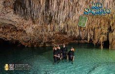 Be amazed of the underground heart of Mexico at Rio Secreto