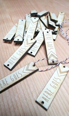 100 .5 x 2 Custom Wood Tags Custom Knitting Tags
