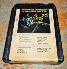 Jimi Hendrix, 8 Track Tape, Experience, Smash Hits, 8 Track Tape Cartridge, Stereo Tape Cartridge, 8 Track by TheBackShak on Etsy