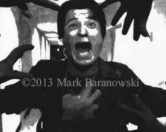 """""""Rhodes and Zombies"""" - Day of the Dead - Charcoal Drawings by Mark Baranowski @ CreateToLive.com #horror #film #charcoal #art"""