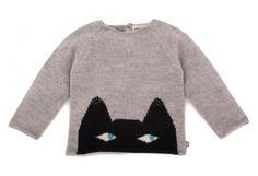 Cat sweater | Villa Kakelbont, een hippe bio, eco en fair trade webshop voor coole kids!