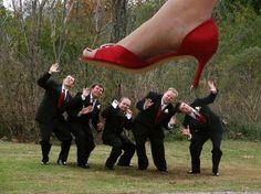 funny shoe shot