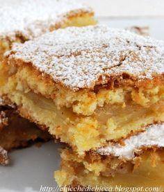 The goodies gem: Squares Rustici to Apples Italian Cake, Italian Desserts, Italian Recipes, Apple Recipes, Sweet Recipes, Bakery Recipes, Cooking Recipes, Torte Cake, Sweet Cakes