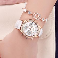 Fashion Women Watch Creative Follow Dreams Words Pattern Leather Mesh Watch Luxury Ladies Casual Dress Quartz Wristwatch Clock#c Fragrant Flavor In