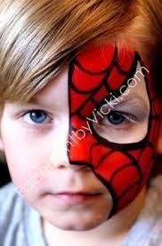 Resultado de imagen para paint face spiderman