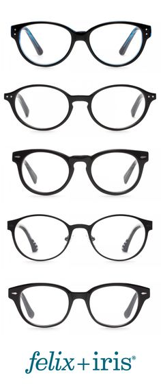 5 amazing round frames, in traditional black, for small faces. | felix + iris glasses