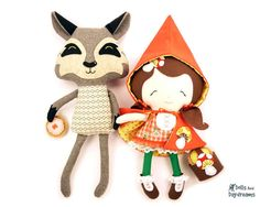 Red Riding Hood and Wolf Softie Sewing by DollsAndDaydreams, $22.99 Perfect gift for my birthday girl!