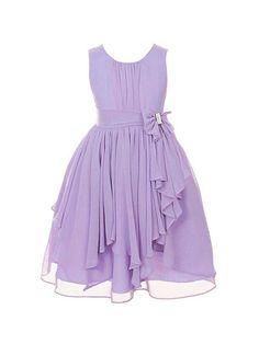 Amazon.com: DressForLess Yoryu Chiffon Asymmetric Ruffled Flower Girl Dress: Clothing