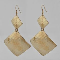 Square Hammered Earrings $7 or 5 pairs for $25