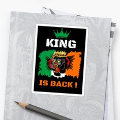 #thekingisback #conormcgregor #ufc #mma #findyourthing #shirtsonline #trends #riveofficial #favouriteshirts  #art #style #design #shopping #redbubble #digitalart #design #fashion #phonecases #customproducts #onlineshopping #accessories #shoponline #onlinestore Conor Mcgregor, Decorate Notebook, Glossier Stickers, Sell Your Art, Ufc, Sticker Design, Custom Design, It Is Finished, Colours