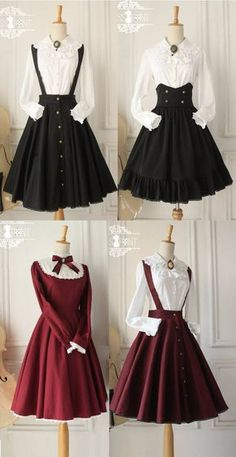 Pretty Outfits, Pretty Dresses, Beautiful Dresses, Kawaii Fashion, Cute Fashion, Diy Fashion, Old Fashion Dresses, Fashion Outfits, Fashion Ideas