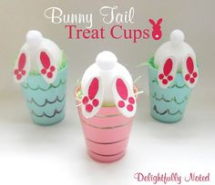 Adorable and Easy Easter Idea for the kids! Bunny Tail Treat Cups crafts for adults Easter Craft: Bunny Tail Treat Cups Easter Projects, Easter Crafts For Kids, Easter Ideas, Preschool Projects, Easter Stuff, Daycare Crafts, Easter Recipes, Toddler Crafts, Cup Crafts