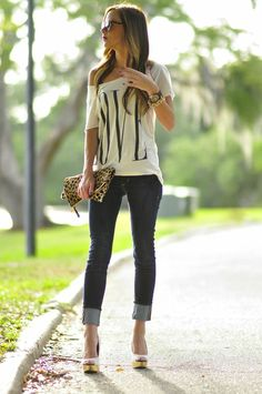 Love tee and skinny jeans