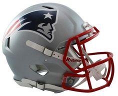 NFL New England Patriots Riddell Speed Authentic Helmet - Silver
