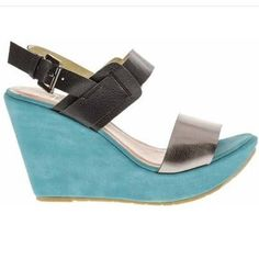 Margarita $29.99  These bright wedges bring beachy style to any ensemble. The colorful heel offers a lively lift.  3.5'' wedge heel with 1'' platform, Adjustable closure  http://pink-shoe-lounge.myshopify.com/collections/wedges/products/edge