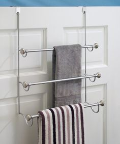 Split Finish Over The Door Towel Rack #zulilyfinds