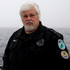 Captain Paul Watson. Saving our ocean life. he really is a hero for doing what he does