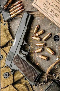 1911 Pistol, Colt 1911, Armas Wallpaper, Ww2 Weapons, Armas Ninja, Military Guns, Fire Powers, Cool Guns, Guns And Ammo