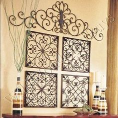 Easy DIY Iron Wall Art! (from toilet paper tubes)