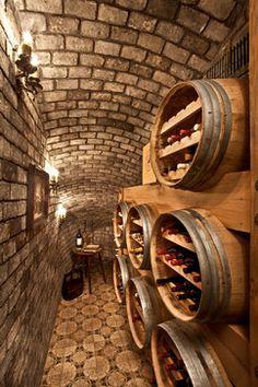 Balboa Island French Wine Cellar - mediterranean - Wine Cellar - Orange County - Palmer Interior Design