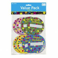 Birthday Name Buttons  (4 d)