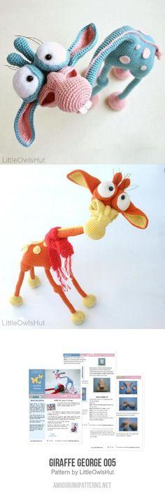 Giraffe George amigurumi pattern