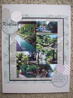 Riverwalk - Scrapbook.com Sketch 2, River Walk, Layout, Frame, Scrapbooking, Usa, Decor, Picture Frame, Decoration