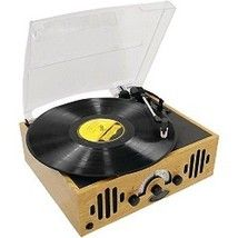 Record Player Belt Driven 3 Speed Turntable Vintage Retro 45 RPM Built Speakers
