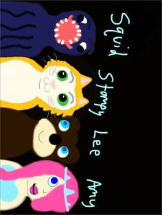 Stampy, Lee, Amy, Squid