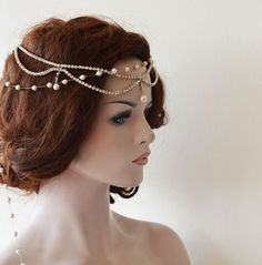 Bridal Headband, Wedding Headpiece, Rhinestone and Pearl, Rhinestone halo, Rhinestone Headband, Wedding Hair Accessory, Bridal Accessory