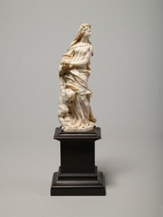 *Allegory of Spring (ivory statuette (Pl.O.2457, 2458: Spring and winter from a…