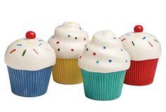 Assortment of 4 Cupcake Bowls on OneKingsLane.com