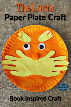 The Lorax Paper Plate Craft is part of Kids Crafts Spring Dr. Seuss - The Lorax Paper Plate Craft is a project based on the book, The Lorax by Dr Seuss Crafts for kids that are inspired by books encourage reading Dr. Seuss, Dr Seuss Art, Dr Seuss Crafts, Dr Seuss Week, Dr Seuss Preschool Art, Daycare Crafts, Classroom Crafts, Crafts For Kids, Craft Kids