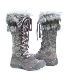 Another great find on #zulily! Grey Gwen Boot - Kids & Women by MUK LUKS #zulilyfinds