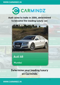 Audi has been selling Luxury cars in India since 2004, however the Audi India was established in March 2007 as a division of Volkswagen Group Sales India. Audi is represented in 110 countries worldwide and since 2004, Audi has been selling its products on the Indian market. The Audi India strategy encompasses significant investments in branding, marketing, exclusive dealerships and after sales service for the upcoming years. Source: wikipedia.org